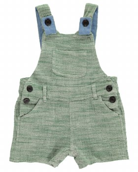 Green Shortie Overalls 18-24m