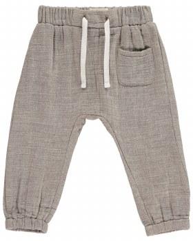 Beige Cotton Pants 6-12m