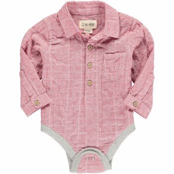 Red Plaid Woven Onsie 6-12m