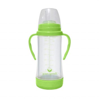 Glass Straw Cup 8oz Green