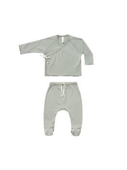 Kimono + Pant Set Sage 0-3m