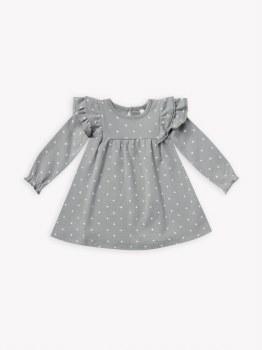 Flutter Dress Dusty Blue 3-6m
