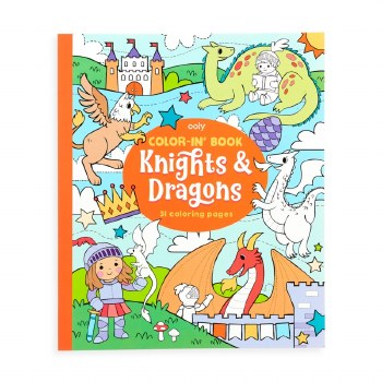Color-in' Book Knights and Dragons