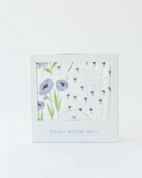 Deluxe Muslin Quilt Blue Windflower