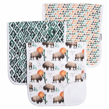 Burp Cloths Bison