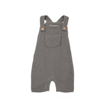 Muslin Coverall Gray 12-18m