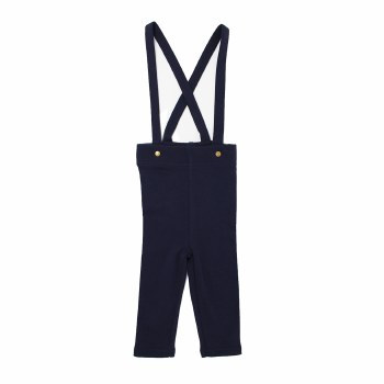 Suspender Pants Navy 9-12m