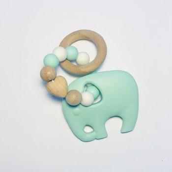 Elephant Teether Mint