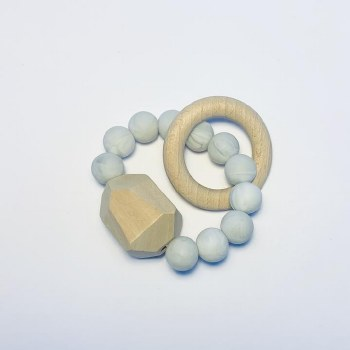 Gem Ring Teether Marble