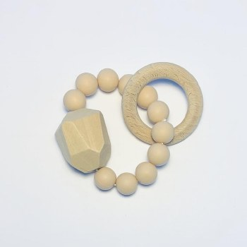 Gem Ring Teether Natural