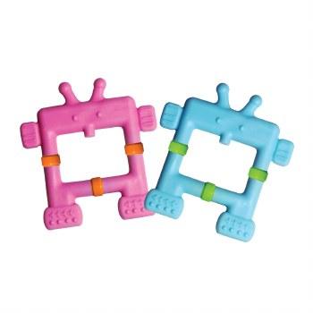 EZ Grip Robot Teether Pink