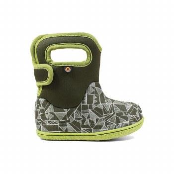 Baby Bogs Maze Geo Green 8