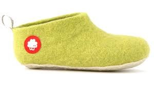 Gus Wool Slipper Lime 26