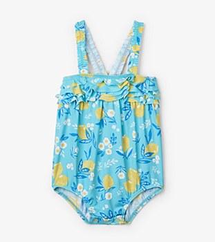Ruffle Swimsuit Lemons 6-9m