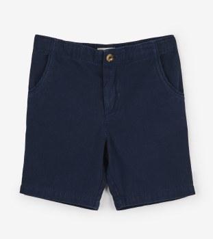 Navy Twill Shorts 4