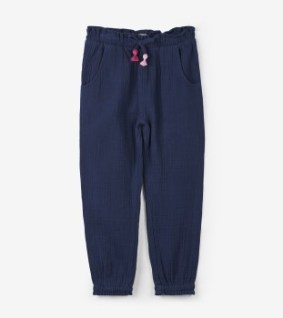 Navy Cropped Pant 3