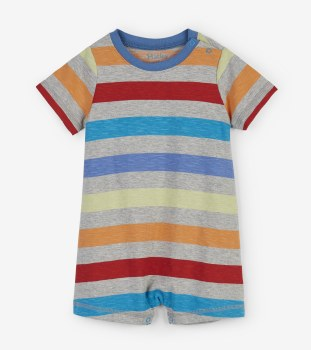 Rainbow Stripe Romper 3-6m