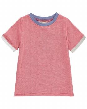 Red Micro Stripe T-Shirt 12-1