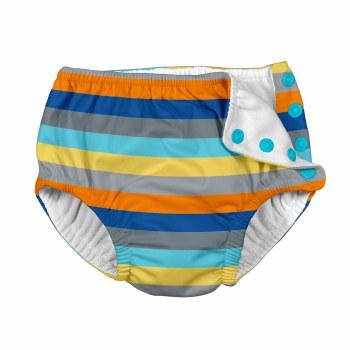 Swim Diaper Grey Stripe 4T