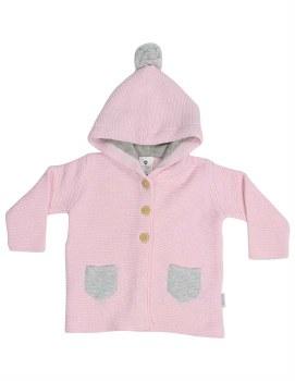 Knit Jacket Baba Sheep Pink 6-12m