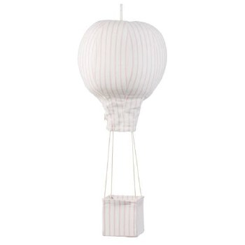 Hot Air Balloon Mobile Pink Stripe