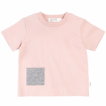 Baby Pocket Tee Pink 12m