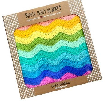 Baby Ripple Blanket - Rainbow