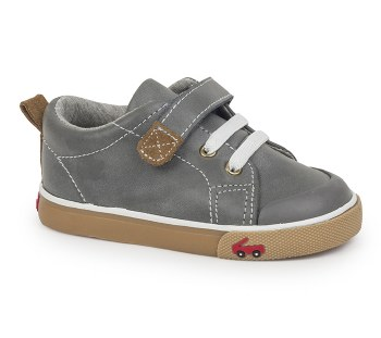 Stevie II Grey Leather 9.5