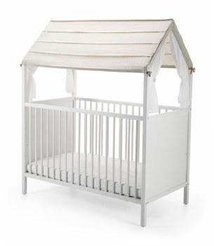 Home Bed Roof Beige Stripe