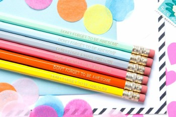 Pencil Set Don't Forget to be Awesome