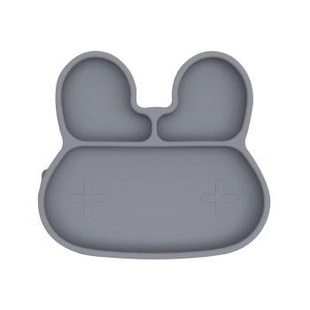 Bunny Stickie Plate Grey