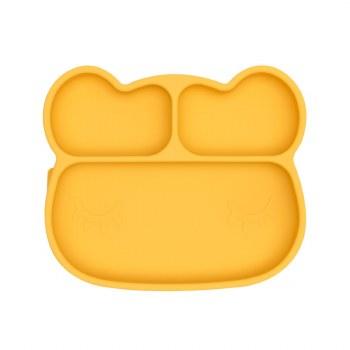 Bear Stickie Plate Yellow