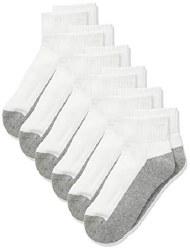 Seamless Sport Quarter Half Cushion 3pk Grey