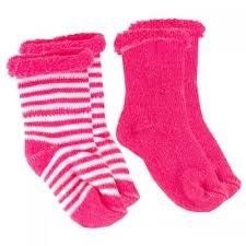 Socks 0-3m Bright Pink