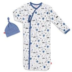 Gown Sack Blue Skylark Nb