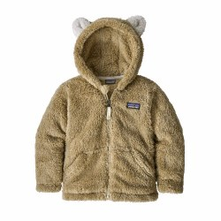 Furry Friends Hoody Khaki 2T