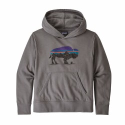 Hoody Sweatshirt Bison Grey Me
