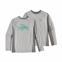 Boys' Rashguard Grey Small