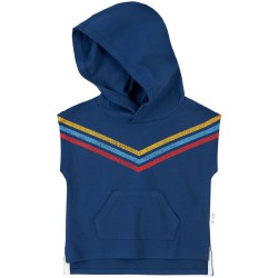 Hooded Tank Blue Retro 3T