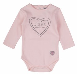 Love Made Me Onsie Pink 3-6m