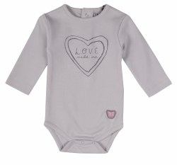Love Made Me Onsie Grey NB