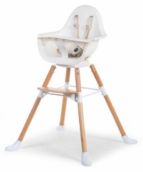 Evolu One.80 High Chair Beech + White
