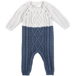 Knit Playsuit Blue 9m
