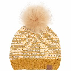 Pom Pom Hat Gold 18-24m