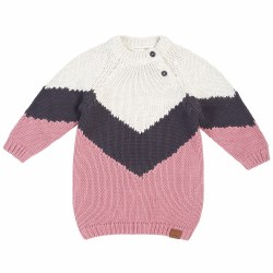 Apline Stripe Sweater Dress 6/7Y