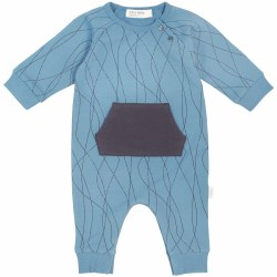 Knit Playsuit Alpine Blue 6m