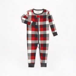 Romper Red Plaid 12m