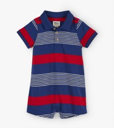Navy Stripes Baby Romper 18-24