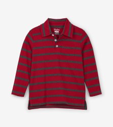 L/S Polo Red Stripe 8