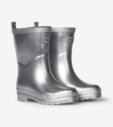 Rain Boots Silver Shimmer 5